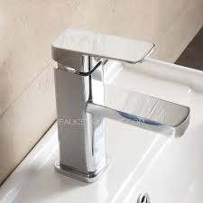 Discount Bathroom Faucets And Fixtures Copper Square Shaped Bathroom Sink Faucet Single Hole