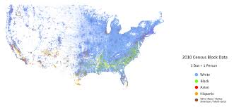 south america dot map the racial dot map one dot per person the science of the south