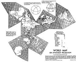 Map Projection World Map On Dymaxion Projection By Richard Buckminster Fuller