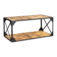 Maharani Coffee Table by Vintage Up Cycled Industrial Coffee Table With Shelf Metal And Wood