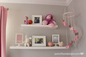 baby on the shelf pink and gray baby girl s nursery design dazzle