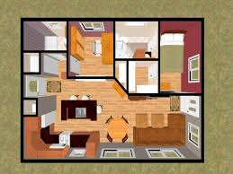home design one bedroom apartment blueprints architect cad