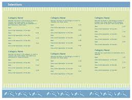free menu templates tristarhomecareinc