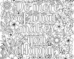 Inspirational Coloring Page Etsy Happy Coloring Pages