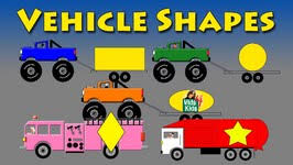 vehicle shapes monster truck fire truck motorcycle garbage