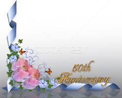 Greetings For 50th Wedding Anniversary 50th Anniversary Border Orchids Stock Photo Irisangel 576339