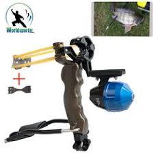 fishing reel slingshot slingbow hunting fish catapult folding