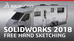 solidworks 2018 free hand sketching youtube