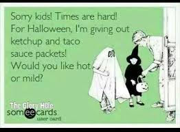 Halloween Birthday Meme - halloween times are hard ecard