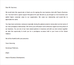 sample thank you for your business letter business meeting thank