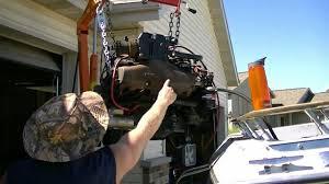 1987 larson cuddy cruiser boat restoration inboard engine removal