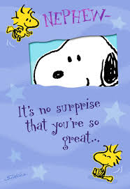 peanuts you u0027re so great birthday card for nephew greeting cards