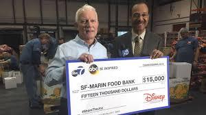 thanksgiving sf abc7 disney donates 15 000 to sf marin food bank abc7news com