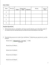 calculating density worksheet fts e info
