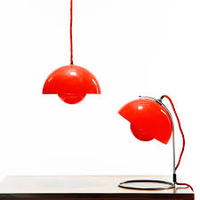 Red Light Fixture by Panton Flowerpot Table Lamp Vp4 Red Table Lamp Stardust