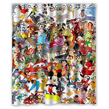 Custom Bathroom Shower Curtains Infinite Pop Custom Waterproof Mickey Minnie Mouse