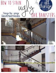 Refinish Banister Railing How To Stainpaint An Oak Banister The Shortcut Methodno