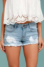 light wash denim shorts light wash shorts low rise denim shorts cutoff shorts