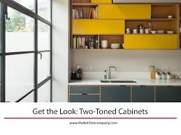are two tone cabinets out of style get the look two toned cabinets the kitchen company