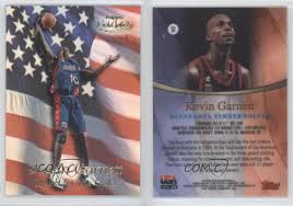 bca gold card 1999 00 topps gold label quest for the q2 kevin garnett team usa