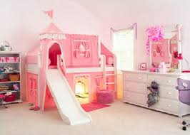 Pink Girly Twin Castle Bunk Bed For Kids Interior Design - Pink bunk beds for kids