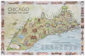 chicago tourist map chicago beyond the loop an original neighborhood landmarks tour
