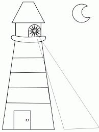 lighthouse coloring free coloring page for kids