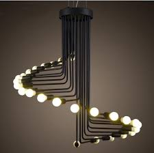 Antique Pendant Lights 2018 Modern Vintage Loft Pendant Light Iron Spiral Staircase L