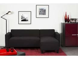 canape d angle reversible pas cher canapé d angle fixe réversible 4 places coloris noir pas