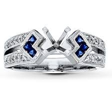 sapphire accent engagement rings jared ring setting sapphire accents 14k white gold