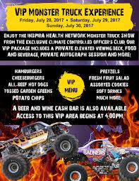 inspira health network monster truck show