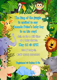 jungle theme baby shower invitation wording theruntime