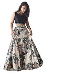 party wear dress omkar creation crepe lehenga choli pritedcholid33 multicolor free