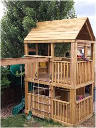 backyards amazing wooden playhouse plans 135 backyard