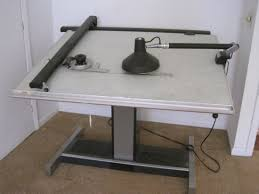 Vemco Drafting Table Electric Drafting Table W Vem Auctions Proxibid