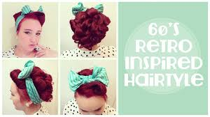 vintage hairstyle 60 u0027s inspired updo and front barrel roll youtube