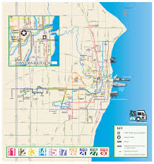 Chicago Trolley Tour Map by Racine Transit Routes City Of Racine