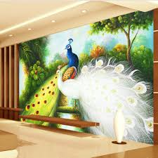 3d Wallpaper Home Decor Compare Prices On Peacock Wall Paper Online Shopping Buy Low