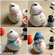 Diy Sock Snowman No Sew Sock Snowman Craft Easy Peasy And Fun