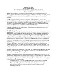 recommended outline of dissertation proposal for quantitative