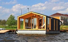 Floating Home Floor Plans Dubldom Prefab Houssboat By Bio Architects Build In A Day Insidehook