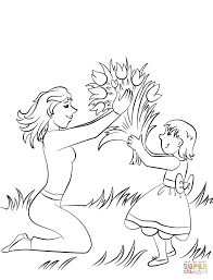 flowers for the best mom in the world coloring page free