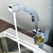 new chrome pull out kitchen faucet square brass kitchen mixer sink end square shaped pullout rotatable kitchen faucet