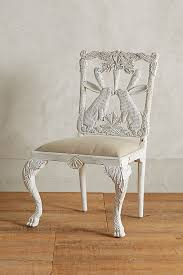 Anthropologie Dining Chairs Handcarved Menagerie Rabbit Dining Chair Anthropologie