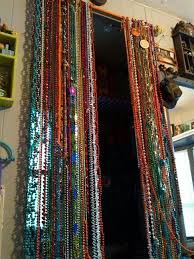diy mardi gras bead bandana beaded curtain diy mardi gras curtain rod time still