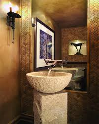 Powder Room Decorating Ideas Contemporary Vintage Wood Accent Wall Powder Room Designs With Pedestal Sink