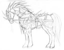 war horse sketch by firecangel on deviantart