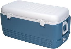 Coleman Stainless Steel Cooler Costco by Amazon Com Igloo Maxcold Cooler 100 Quart Icy Blue Sports