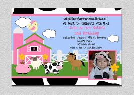2nd Birthday Invitation Card Barnyard Birthday Invitations Kawaiitheo Com