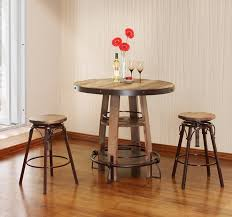 Reclaimed Wood Bistro Table Reclaimed Wood Finish Bistro Table Set
